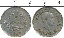 Изображение Монеты Малайзия Саравак 5 центов 1927 Медно-никель XF