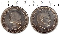 Монета Дания 5 крон Серебро 1964 UNC- фото