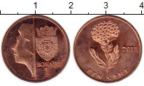 Изображение Монеты Нидерланды Бонайре 1 цент 2011 Бронза UNC-