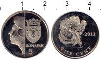 Изображение Монеты Нидерланды Бонайре 5 центов 2011 Медно-никель UNC-