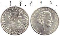 Изображение Монеты Суринам 1 гульден 1962 Серебро UNC-