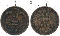 Изображение Дешевые монеты Австро-Венгрия 2 хеллера 1894 Медь VF