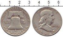 Изображение Монеты США 1/2 доллара 1962 Серебро XF-