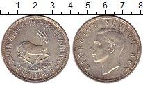 Монета ЮАР 5 шиллингов Серебро 1949 XF