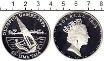 Монета Токелау 5 тала Серебро 1994 Proof- фото