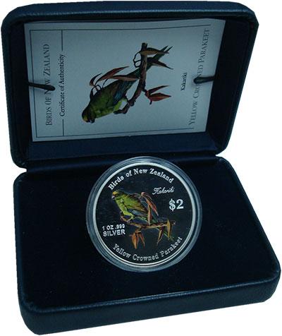 Изображение Монеты Острова Кука 2 доллара 2005 Серебро Proof Птицы Новой Зеландии