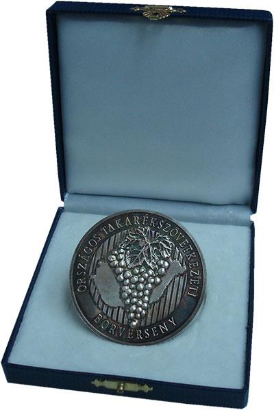Изображение Подарочные монеты Венгрия Медаль 2006 Серебро UNC- Винный конкурс. Ориг