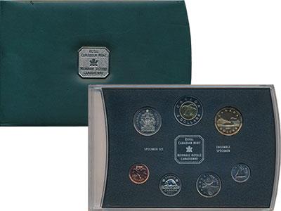 Изображение Подарочные монеты Канада Набор 2001 года 2001  UNC Годовой набор из 7 м