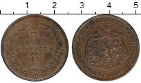 Монета Болгария 5 стотинок Бронза 1881 XF- фото