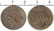 Изображение Монеты Нидерланды Голландия 2 стивера 1784 Серебро XF
