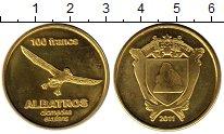 Монета Антарктика - Французские территории 100 франков Латунь 2011 UNC фото