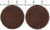 Изображение Монеты Сардиния 5 сентесими 1826 Медь XF