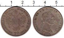 Монета Австрия 20 крейцеров Серебро 1831 XF+ фото