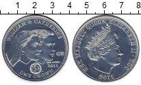 Монета Тристан-да-Кунья 1 крона Посеребрение 2011 UNC-