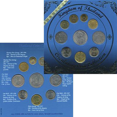 Изображение Подарочные монеты Таиланд Сувенирный набор 0  XF Набор из 10 монет ра