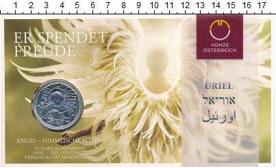 Изображение Подарочные монеты Австрия 10 евро 2018 Серебро UNC Ангел света -Уриил,