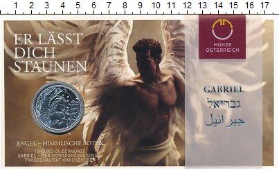 Изображение Подарочные монеты Австрия 10 евро 2017 Серебро UNC Ангел благовестия -
