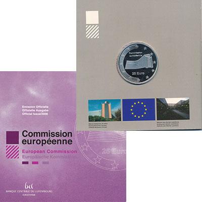 Изображение Подарочные монеты Люксембург 25 евро 2005 Серебро Proof Европейская комиссия