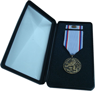 Изображение Подарочные монеты Чехия Медаль 1996 Бронза UNC Медаль Армии Чешской