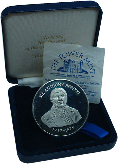 Изображение Подарочные монеты Великобритания Библиотека 0 Медно-никель Proof- Читальный зал Британ
