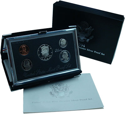 Изображение Подарочные монеты США Набор 1994 года 1994  Proof В набор входят 5 мон