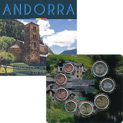 Изображение Подарочные монеты Андорра Набор 2018 года 2018  UNC В набор входят восем