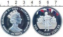 Монета Фолклендские острова 50 пенсов Серебро 2002 Proof- фото