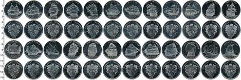 Изображение Наборы монет Кирибати 1 доллар 2014 Медно-никель UNC Острова Гилберта , U
