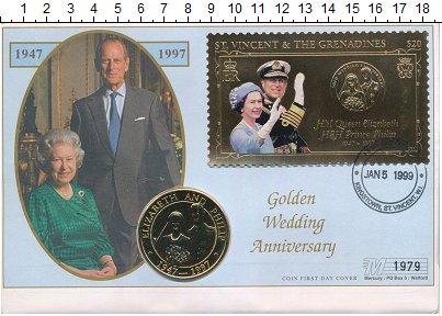 Изображение Монеты Теркc и Кайкос 5 крон 1997 Медно-никель UNC Елизавета II и Филип