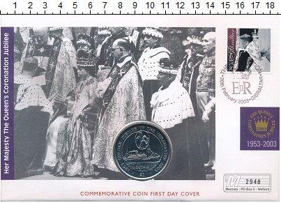 Изображение Монеты Виргинские острова 1 доллар 2003 Медно-никель UNC Елизавета II. Золото