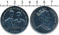 Монета Остров Мэн 1 крона 1999 Жизнь и эпоха Королевы-матери, сва...