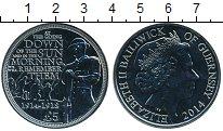 Монета Гернси 5 фунтов Медно-никель 2014 UNC фото