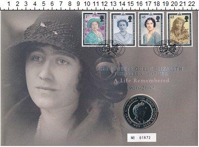 Изображение Монеты Великобритания 5 фунтов 2002 Медно-никель BUNC Королева-мать.<br>М