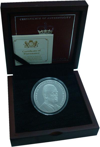 Изображение Монеты Остров Джерси 5 фунтов 2017 Серебро Proof Герцог Эдинбургский.