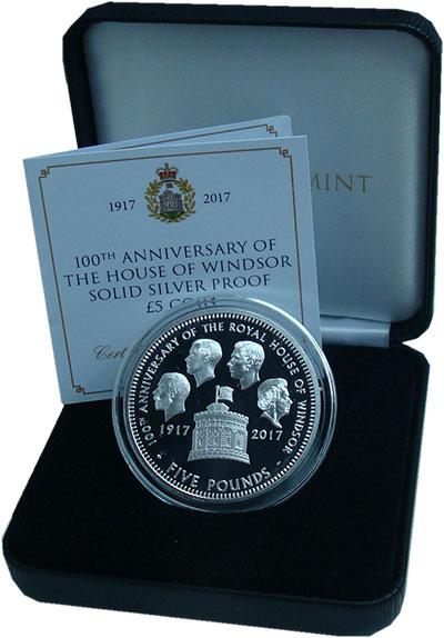 Изображение Подарочные монеты Великобритания Тристан-да-Кунья 5 фунтов 2017 Серебро Proof