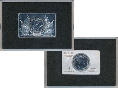 Изображение Подарочные монеты Великобритания 2 фунта 2015 Серебро UNC Монета номиналом 2 ф