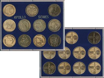 Изображение Подарочные монеты США `Серия ``Аполлон``` 0 Бронза UNC `Набор жетон посвяще