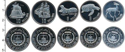 Изображение Наборы монет Сомалиленд Набор 2019 года 2019  UNC Набор из пяти монет