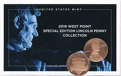 Изображение Подарочные монеты США 1 цент 2019 Бронза Proof Новый монетный двор