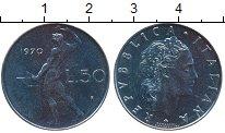 Изображение Дешевые монеты Италия 50 лир 1970 нержавеющая сталь