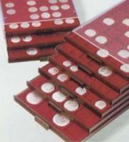 Изображение Аксессуары для монет Круглые ячейки Leuchtturm (Германия) Планшет MB CAPS 28 для монет, на 35 ячеек (326819) 0   •Служит для хранени