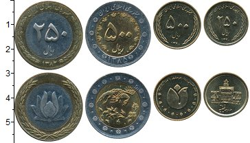 Изображение Наборы монет Иран Набор 2003-2011 0  UNC- В набор входят четыр