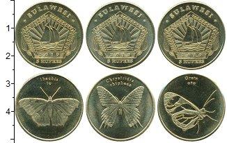 Изображение Наборы монет Индонезия 5 рупий 2019 Латунь UNC В наборе 3 монеты но