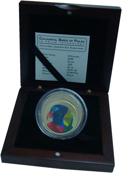 Изображение Монеты Палау 5 долларов 2006 Серебро Proof- Тихоокеанская дикая
