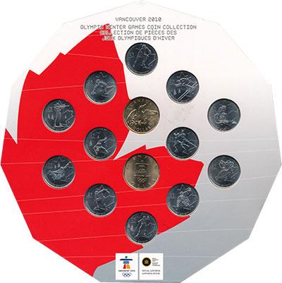 Изображение Подарочные монеты Канада Олимпийские игры в Ванкувере 2010 2010  UNC Набор посвящен зимни