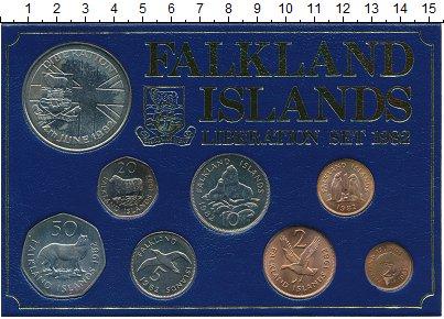 Изображение Подарочные монеты Фолклендские острова Выпуск монет 1982 года 1982  UNC- Выпуск Фолклендских