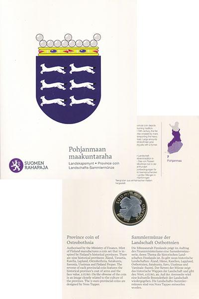 Изображение Подарочные монеты Финляндия 5 евро 2011 Биметалл Proof Исторические области