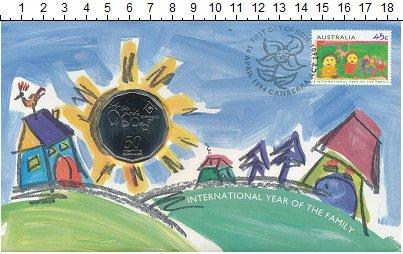 Изображение Монеты Австралия 50 центов 1994 Медно-никель UNC Международный Год се
