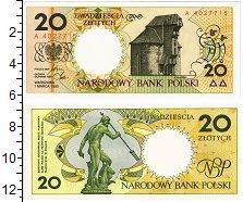 Банкнота Польша 20 злотых 1990 UNC фото