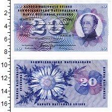 Банкнота Швейцария 20 франков 1967 XF+
